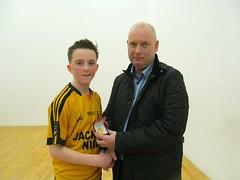 Boys U15 Final Winner Presentation Diarmaid Gallagher