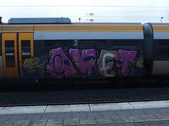 AMET (mkorsakov) Tags: train graffiti zug bahnhof colored piece asp hbf sph bunt mnster eres rb67 tripa amet