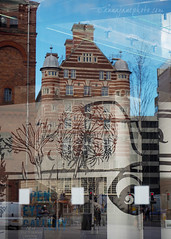 Albion House Reflection (.annajane) Tags: street uk england abstract reflection window glass architecture liverpool thestrand merseyside albionhouse mannisland openeyegallery