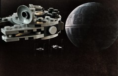 33/366. Seems Legit. (dazmo862) Tags: death star starwars fighter lego space bricks tie millennium falcon spaceship