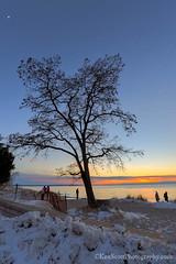 Lake Michigan ... the blue hour (Ken Scott) Tags: winter sunset usa moon michigan lakemichigan greatlakes february hdr freshwater voted leelanau 2016 45thparallel empirebeach sbdnl sleepingbeardunenationallakeshore mostbeautifulplaceinamerica