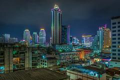 Bangkok night fever (aurlien.leroch) Tags: longexposure skyline night thailand nikon asia cityscape skyscrapers bangkok asie bluehour d7100