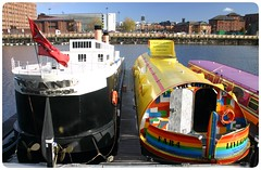 Apartment Barges (GIIBRG) Tags: liverpool beatles titanic barge albertdock yellowsubmarine