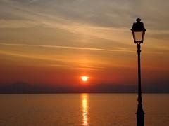 A magnificent sunset... (Christos Andreou) Tags: walking landscapes mediterranean wintersunset relaxing greece coastline meditation melancholy loutraki magnificentsunset sunsetsingreece samsunggalaxykzoomsamples voltastoloutrak