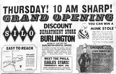Silo Burlington NJ Grand Opening 11-05-64 (JSF0864) Tags: burlington store discount ad silo advertisement opening