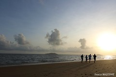 Plage de Montjoly au petit matin ... (samounette973) Tags: light beach silhouette canoneos outremer frenchguiana guyanefrançaise levédujour 1018mm landscapesdreams canoneos750d
