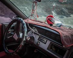 Espinal, 2015 (Exit Imago) Tags: car mexico automobile interior charm scorpion santaclaus steeringwheel espinal