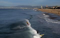 boards (greenelent) Tags: ocean california ca blue beach surf waves shore photoaday surfers 365 manhattanbeach