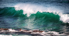 Wave (luz.marsen) Tags: ocean blue sea white green water waterfront wave spray shore splash breaker splashing