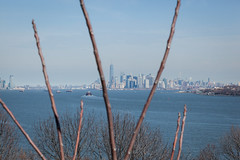 Manhattan Skyline (Erin Cadigan Photography) Tags: city nyc newyorkcity urban newyork building tree tourism water horizontal skyline architecture river island harbor daylight newjersey jerseycity branch cityscape view manhattan worldtradecenter frame borough daytime wtc hudson statenisland freedomtower fortwadsworth