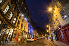 VictoriaStreet-16030904 (Lee Live: Photographer) Tags: road city longexposure beautiful tarmac night scotland edinburgh scottish historic romantic brightlights cobbles grassmarket victoriastreet cobbledstreet anicent leelive ourdreamphotography