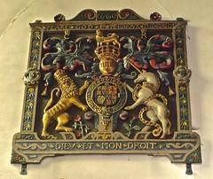 Ashford, Kent - St Mary the Virgin (Glass Angel) Tags: kent ashford stmarythevirgin royalarms