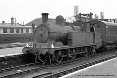 c.1958 - Peterborough North. (53A Models) Tags: railroad train railway steam locomotive passenger n5 parker britishrailways lner gcr 69327 mslr 062t