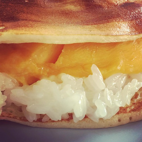 Mango sticky rice in a crepe = Ninja Crepe.