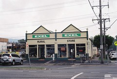 Exel Store, Lilydale, Victoria, Australia (Matthew Paul Argall) Tags: building retail architecture hardwarestore store canonsureshot60zoom kodakultramax400