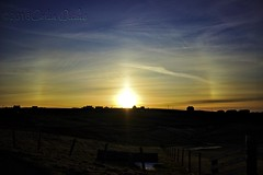 Sun Dog over Midbrake (Dickie Imaging) Tags: uk sunset scotland unitedkingdom ngc parhelion yell sundog shetland dickie parhelia gbr cullivoe breakon colindickie dickieimaging midbrake