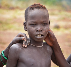 Mursi Boy (Rod Waddington) Tags: africa boy portrait people hands outdoor african traditional tribal afrika omovalley ethiopia tribe ethnic mago mursi ethnicity afrique ethiopian omo etiopia ethiopie etiopian