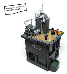 Ace Chemicals (2 Much Caffeine) Tags: robin lego batman joker gotham moc microscale ironbuilder