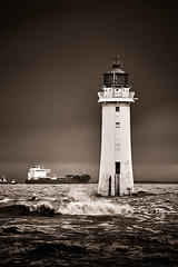 Stormy Perch Rock (another_scotsman) Tags: lighthouse seascape stormy newbrighton perchrock