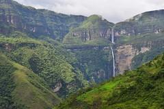 Gocta Falls (orientalizing) Tags: mountain peru southamerica landscape waterfall valley gorge cloudforest gocta northernandes 774mhigh