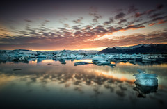 The Calmness After A Midnight Sunset (hpd-fotografy) Tags: sunset sky panorama seascape nature water clouds sunrise outdoors iceland mood scenic dramatic atmosphere lagoon glacier arctic nordic flowing iceberg bluehour geology pure ultrawide jokulsarlon goldencircle sandinavia ~themagicofcolours~