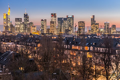 November Mood (Stephan Strange Photography) Tags: city november sunset red architecture skyscraper sonnenuntergang sundown frankfurt cityscapes bank citylights stadt commerzbank bankenviertel cityviews hochhaus ubs citylight hochhuser helaba grosstadt skyscraker commerzbanh