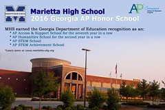 Marietta High School Named AP Honor School (mariettacityschools) Tags: game field sport horizontal football athletics competition recreation laces americanfootball pigskin yardline teamsport