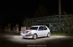 Peugeot 106 Rallye (Lorenzo Vacca Photography) Tags: auto light white cars car night speed painting french nikon flickr fat rally award automotive racing best 106 lorenzo epic peugeot rallye stance vacca nij nikonflickraward nikonflickrawards nikonflickr speedhunter