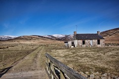 deserted (muriel dyga) Tags: uk mountains abandoned scotland highlands angus cottage desolate deserted