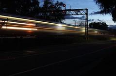 Signal Bridge at Davis, California (ScholzRUNNER) Tags: california railroad usa night canon nightshot trains amtrak unionpacific davis railfan capitolcorridor uprr f59 emd amtrakstation f59phi unionpacificrailroad amtrakcalifornia railroadphotography buildingamerica usatrains amtrakamerica