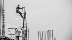 work at height (scastrillon) Tags: sky people white black blanco work colombia iron negro working acero hierro popayan