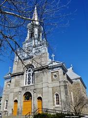 Papineauville - Église Sainte-Angélique (JeanLemieux91) Tags: trees canada primavera church spring árboles abril iglesia arbres québec april avril église printemps clocher outaouais papineauville
