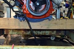Measuring (john.and.kath) Tags: chevrolet conversion welding engine mount swap impala ls 1965 pedestal fabrication 60l l98 jrd ls2 l76