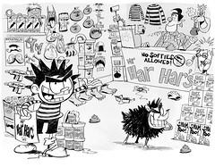 Dennis the Menace - The Great Escape (theoneandonlystevemay) Tags: illustration humour jokes butler steven stevemay dennisthemenace gnasher thebeano childrensillustration puffinbooks