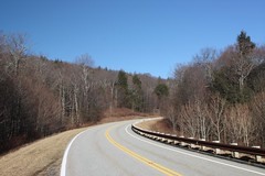 Cherohala Skyway - Graham County, NC (itreresearch) Tags: road mountain horizontal highway steel beam weathered guardrail curve ncsu skyway itre itrencsu
