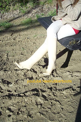 fetish white boots (heelrubberboots) Tags: white liza mud boots rubber gummi absatz pvc stiefel rigon