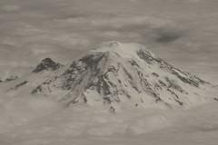 Mighty Mount Rainier (rasdiggity) Tags: sky bw mountain snow ice clouds washington unitedstates ngc glacier mountrainier rainier cascades summit pacificnorthwest northamerica cascaderange