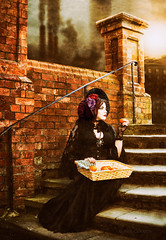 Victorian orange seller (Azadeh Brown) Tags: england girl beauty fashion fairytale vintage dark dress cosplay vampire gothic goth 19thcentury victorian vogue lolita victoriana femmefatale gothgirl egl elegant azadeh bonnet burlesque theatrical janeausten alternative darkphotography headdress jacktheripper darkart steampunk charlesdickens highfashion wgw charlottebronte pennydreadful persianbeauty fascinator newromantic gothicart alternativemodel whitbygothicweekend victorianstreet darkfairytale gothmodel victorianwedding ukmodel victorianfactory victorianbonnet persianmodel azadehbrown charlesdickenscharacter steampunkmodel victoriancharacter