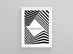 Inception framed print (Mathew Bond) Tags: print design inception thedarkknight christophernolan theprestige thedarkknightrises