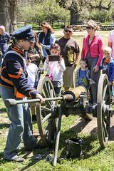 Cooling The Cannon (wyojones) Tags: california people army crowd cannon artillery uniforms visitors sponge reenactors soilders cannonfire kerncounty lebec forttejon grapevinecanyon armydays cannoncrew artilleryman spongeman wyojones 12poundmountainhowitzer forttejonstatehistoricalpark