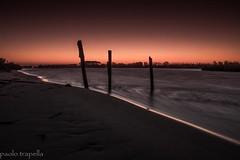 Sunset a Rosolina.... (paolotrapella) Tags: longexposure sunset beach water canon tramonto mare acqua spiaggia lungheesposizione eos600d
