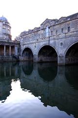 DSC_0248 (ashleigh290) Tags: uk bridge sunset shadow england reflection water river spring bath avon oval connect pulteney unitedkindom