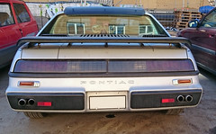 1984 Pontiac Fiero (crusaderstgeorge) Tags: cars sweden rear gvle 1984 fiero pontiac sverige americancars gvleborg americanclassiccars 1984pontiacfiero