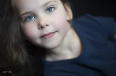 Untitled (Geoff Mock) Tags: blue portrait black girl closeup nikon child naturallight nikon50mmf14 nikond610