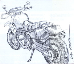 motocicleta a lapicero (ivanutrera) Tags: pen sketch drawing moto motorcycle draw dibujo motocicleta lapicero boligrafo dibujoalapicero dibujoenboligrafo