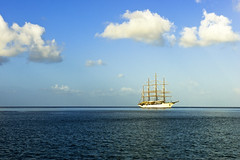schooner (b.campbell65) Tags: ocean travel blue sea vacation nature wet water beautiful island tropical caribbean grenadines antilles