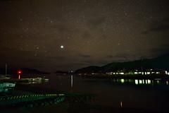 Starry night @  Zamami Port (raisin bun) Tags: japan star  okinawa  starrynight zamami   zamamiisland     zamamivillage