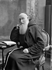 Rev. Paul seated, three-quarter length portrait (National Library of Ireland on The Commons) Tags: portrait friar capuchin nationallibraryofireland paulneary capuchinfriars brendankeogh thekeoghphotographiccollection keoghbrothersltd subjectidentified frpaulnearyofmcap provincialminister