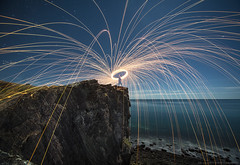 The last spin (smarti77) Tags: light lightpainting wool night canon painting photography long exposure mark steel south iii australia adelaide 5d sa sparks steelwool smarti77 sdsmart