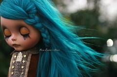 Closed (pure_embers) Tags: uk alpaca girl hair eyes doll closed dolls wind sleep teal tan blythe neo custom pure takara briar embers reroot sammydoe pureembersbriar
